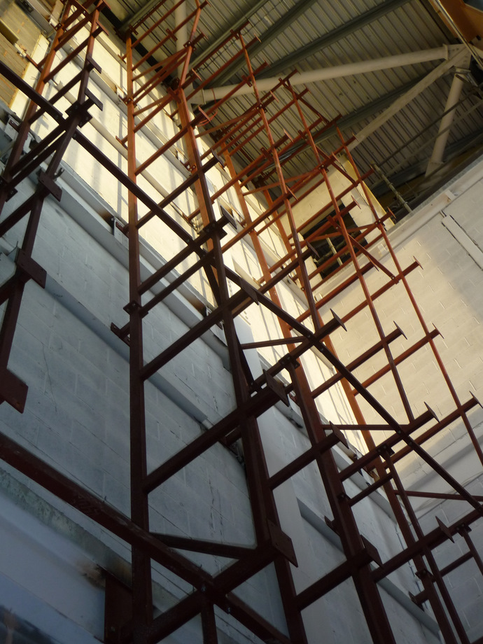 Bendcrete Structural Steel Frames - Bolton One Climbing Wall