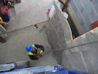 Bendcrete Installing Climbing Panels at Bolton One